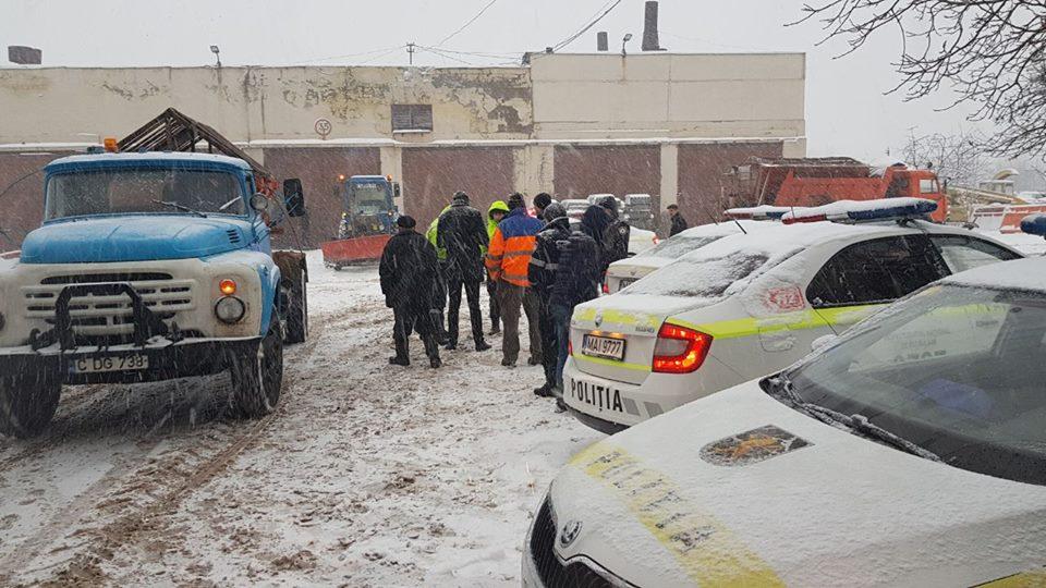 Accidente rutiere pe teritoriul capitalei, ca urmare a condițiilor meteo