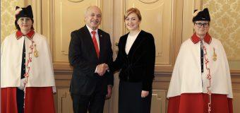 Oxana Domenti a prezentat scrisorile de acreditare Președintelui Elveției
