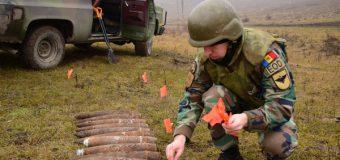Obiecte explozive din cel de-al Doilea Război Mondial, distruse de geniştii Armatei Naţionale