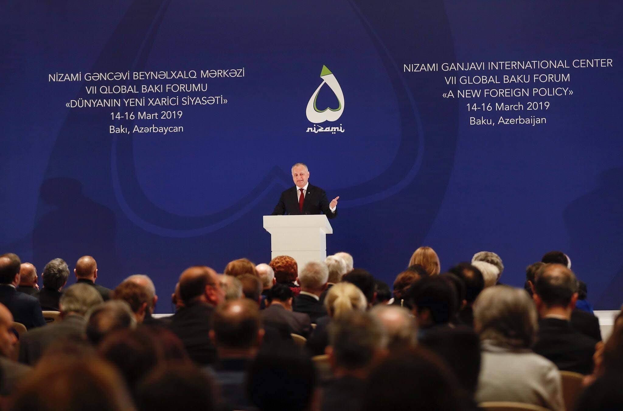 """Igor Dodon – cu un discurs la Baku: """"Noi, reprezentanții țărilor mici…"""""""