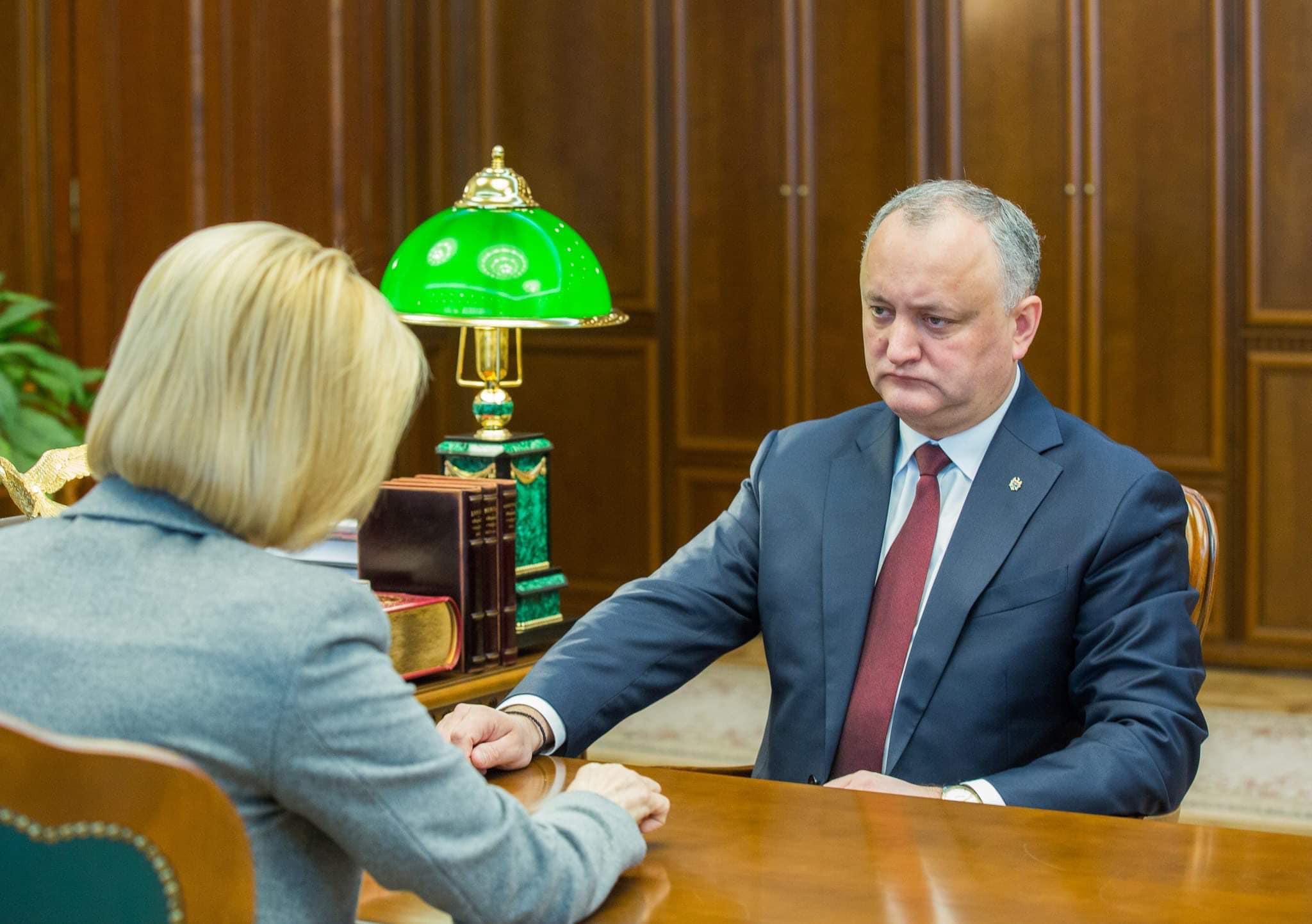 Igor Dodon s-a văzut cu Irina Vlah. Au discutat despre amânarea datei alegerilor în Găgăuzia