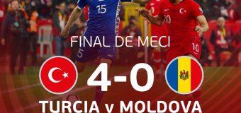 Selecționata Moldovei de fotbal a fost învinsă cu 4 la 0 de Turcia