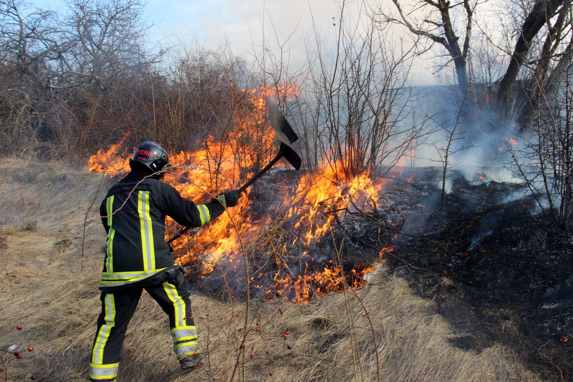 Peste 50 focare de vegetație – stinse de pompieri, în ultimele 24 de ore