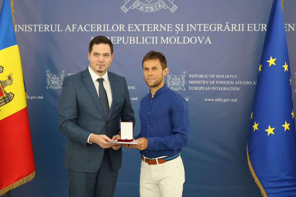 "Tenismanul Radu Albot – decorat cu medalia ""Meritul Diplomatic"""