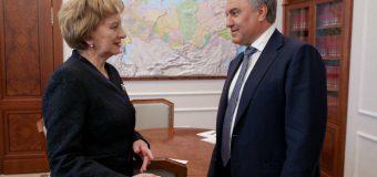 Liderul PSRM, la discuții cu președintele Dumei de Stat a Federației Ruse