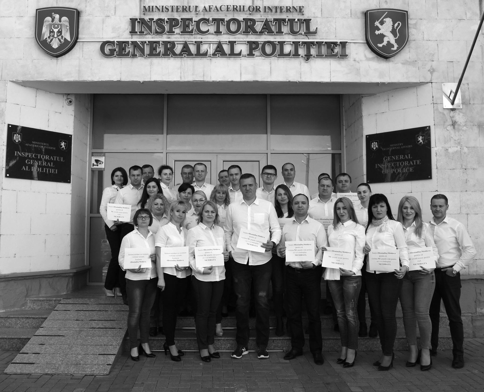 Șeful IGP: Am lăsat uniforma polițienească, am ales blugii și cămașa albă pentru a ne solidariza cu victimele violenței sexuale