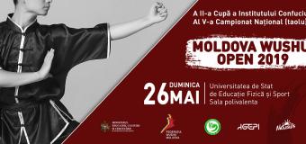 """Campionatul """"Moldova Wushu Open"""" se va desfășura în această duminică"""