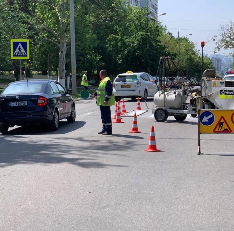 Startul lucrărilor de aplicare a marcajului rutier pe străzile din capitală