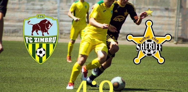 """Echipa de juniori Zimbru U-17 și-a învins rivala de la Sheriff: """"Se apropie de câștigarea titlului"""""""