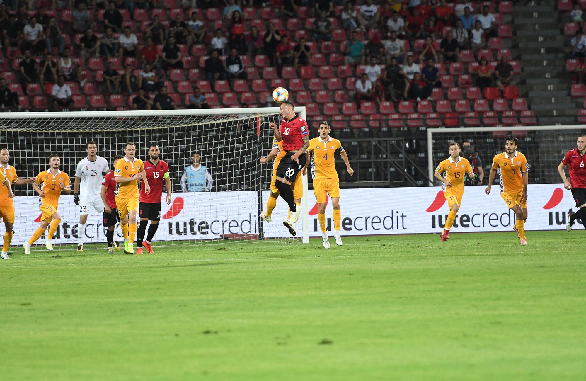 Naţionala de fotbal a Moldovei a pierdut meciul cu Albania, din cadrul preliminariilor Campionatului European din 2020