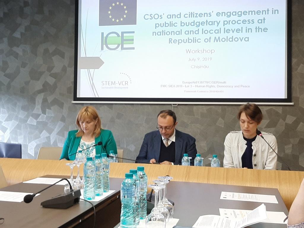 Curtea de Conturi a participat la un atelier privind evaluarea angajamentului ONG-urilor și cetățenilor în procesul bugetar public