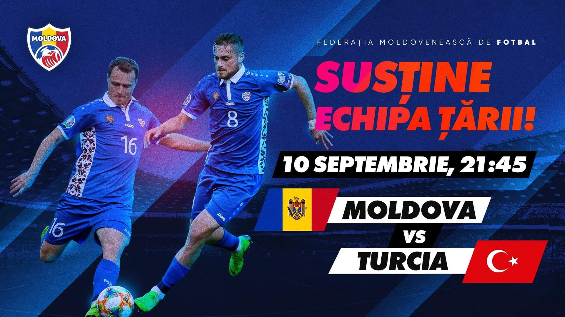 Ce trebuie să știi înainte de meciul Moldova-Turcia? FMF oferă ultimele detalii!