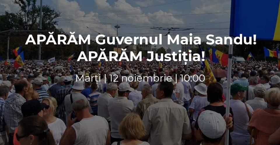 """""""Venim și apărăm Justiția"""" – Blocul """"ACUM"""" cheamă cetățenii pentru a susține Guvernul Sandu"""
