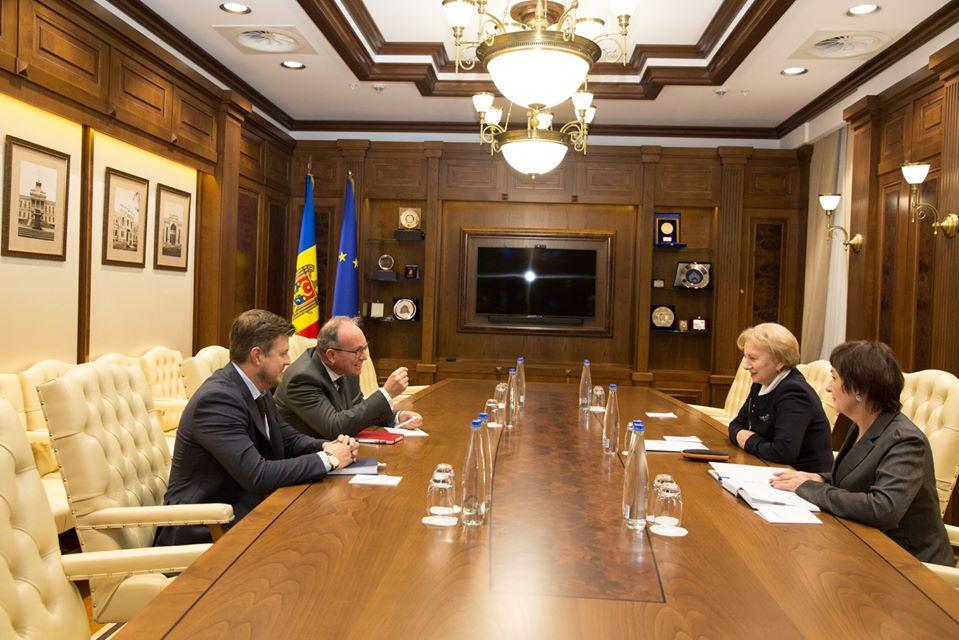 Zinaida Greceanîi s-a văzut cu Ambasadorul Daniel Ioniță