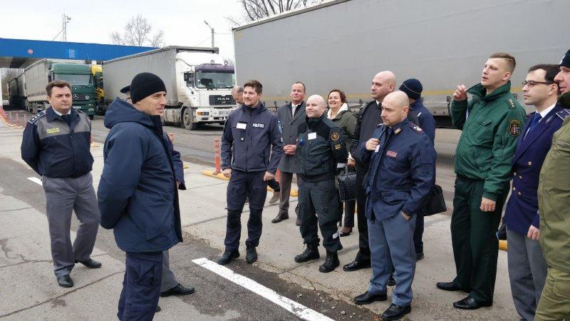 Polițiștii de frontieră din Direcția regională Vest au organizat o ședință pentru 25 de reprezentanți ai Poliției din diverse țări ale UE