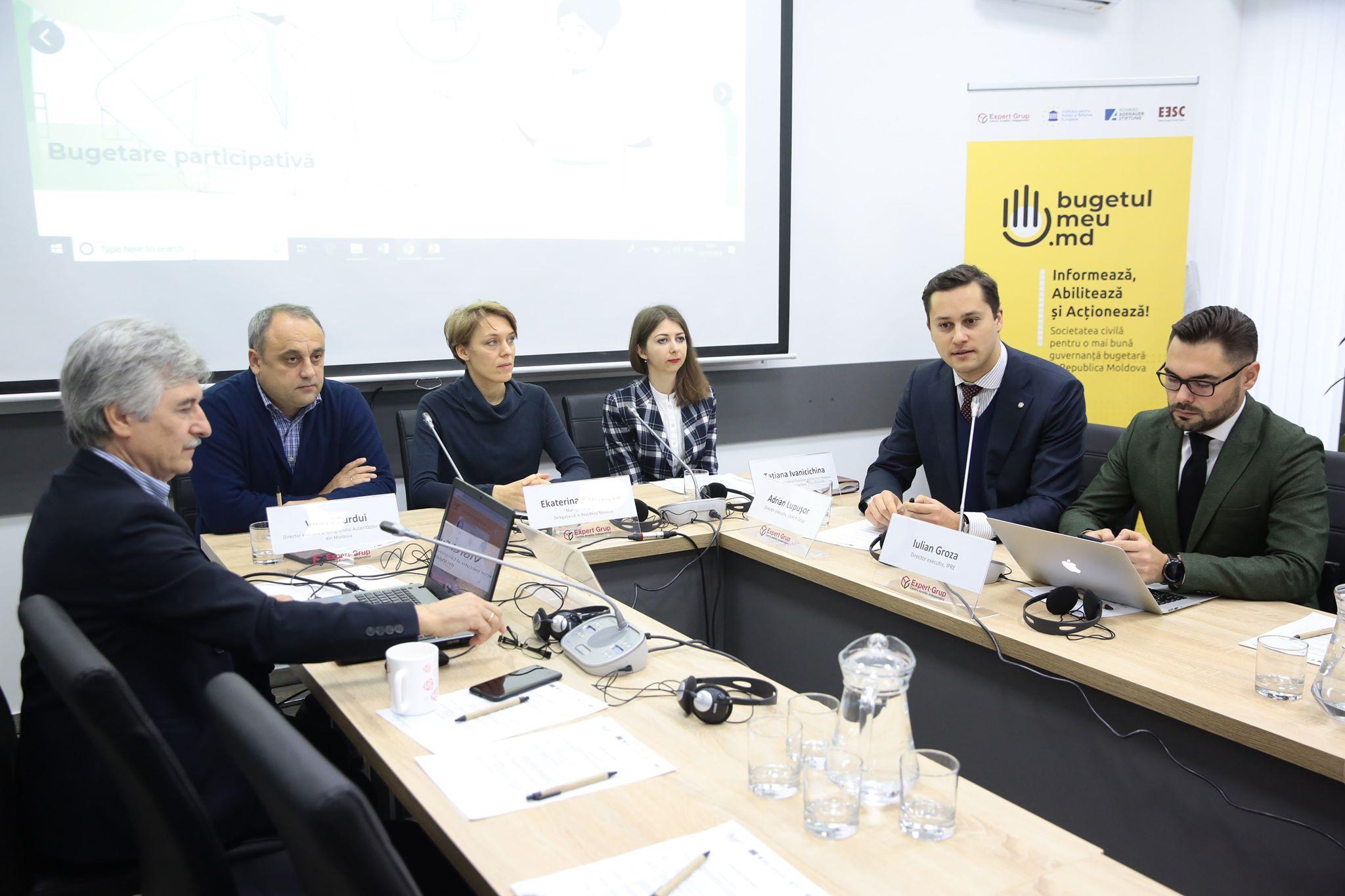 A fost lansat un proiect privind creșterea eficacității procesului bugetar prin participarea cetățenilor și societății civile