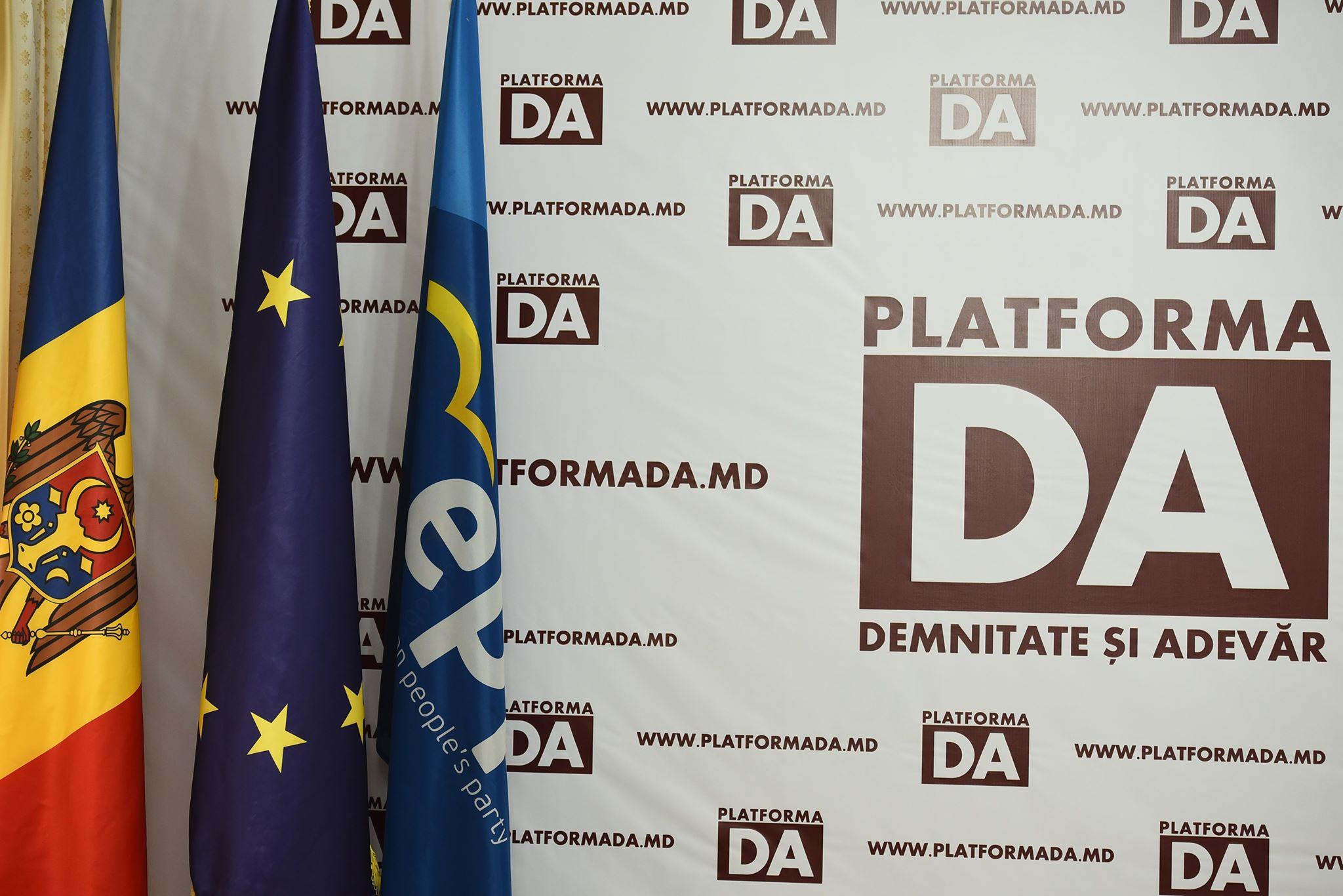Inițiativă a Platformei DA – aprobarea Declarației privind ilegalitățile crase comise de regimul separatist și lipsa de reacție a guvernării