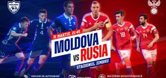 Meciul anului! Naționala Moldovei va juca un meci amical cu Rusia