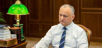 Dodon face propuneri Comisiei pentru Situații Excepționale. Ce urmează să se examineze
