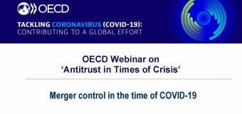 Normele antitrust și controlul concentrărilor economice pe timp de criză – subiectul unor webinare unde a participat și Consiliul Concurenței