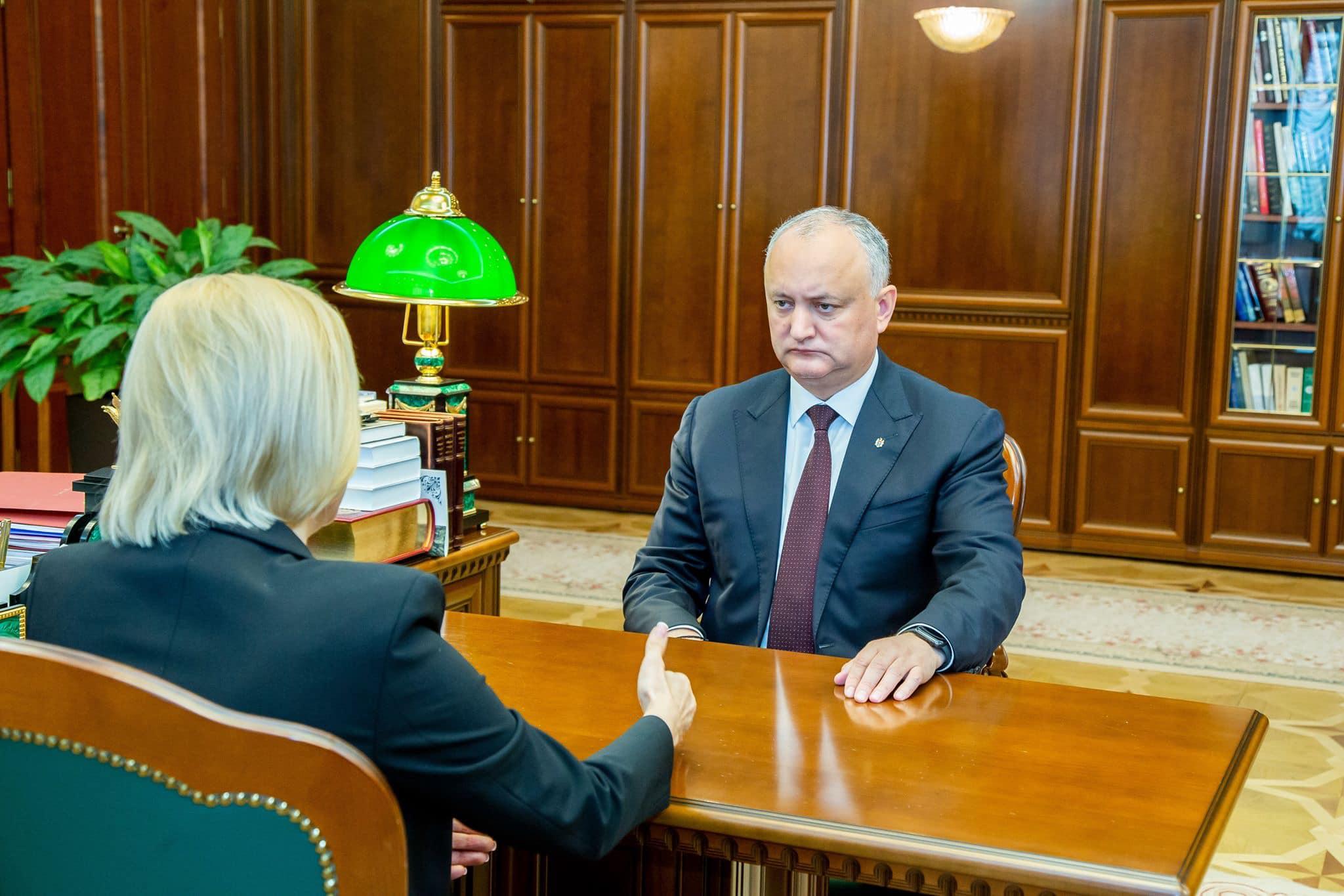 Igor Dodon s-a văzut cu Irina Vlah