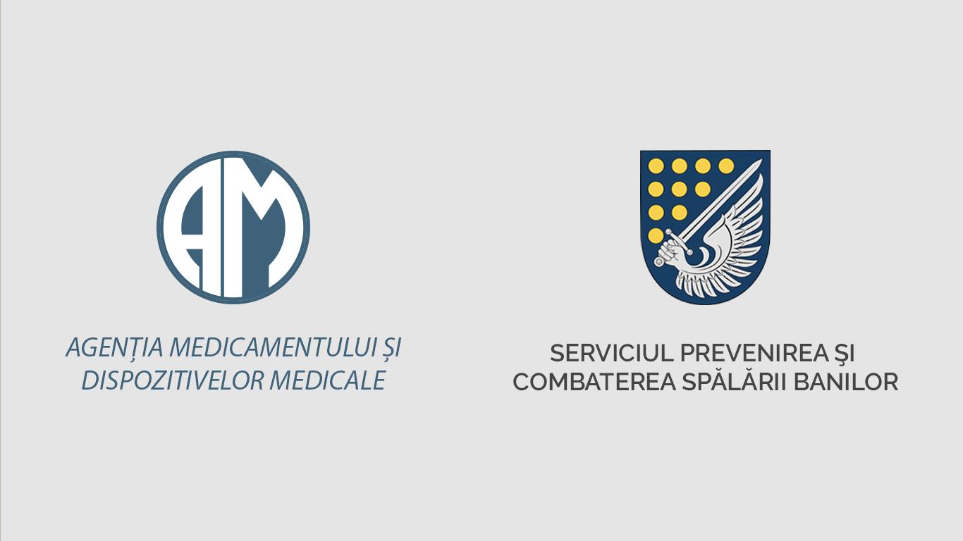 Agenția Medicamentului și Dispozitivelor Medicale și Serviciul Prevenirea și Combaterea Spălării Banilor au semnat un acord