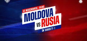 Naționala Moldovei de fotbal va juca în această seară un meci amical cu reprezentativa Rusiei