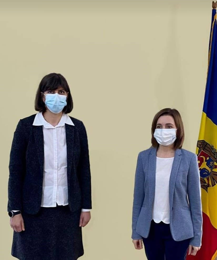 Ce a discutat Maia Sandu cu Laura Codruța Kövesi, la Bruxelles