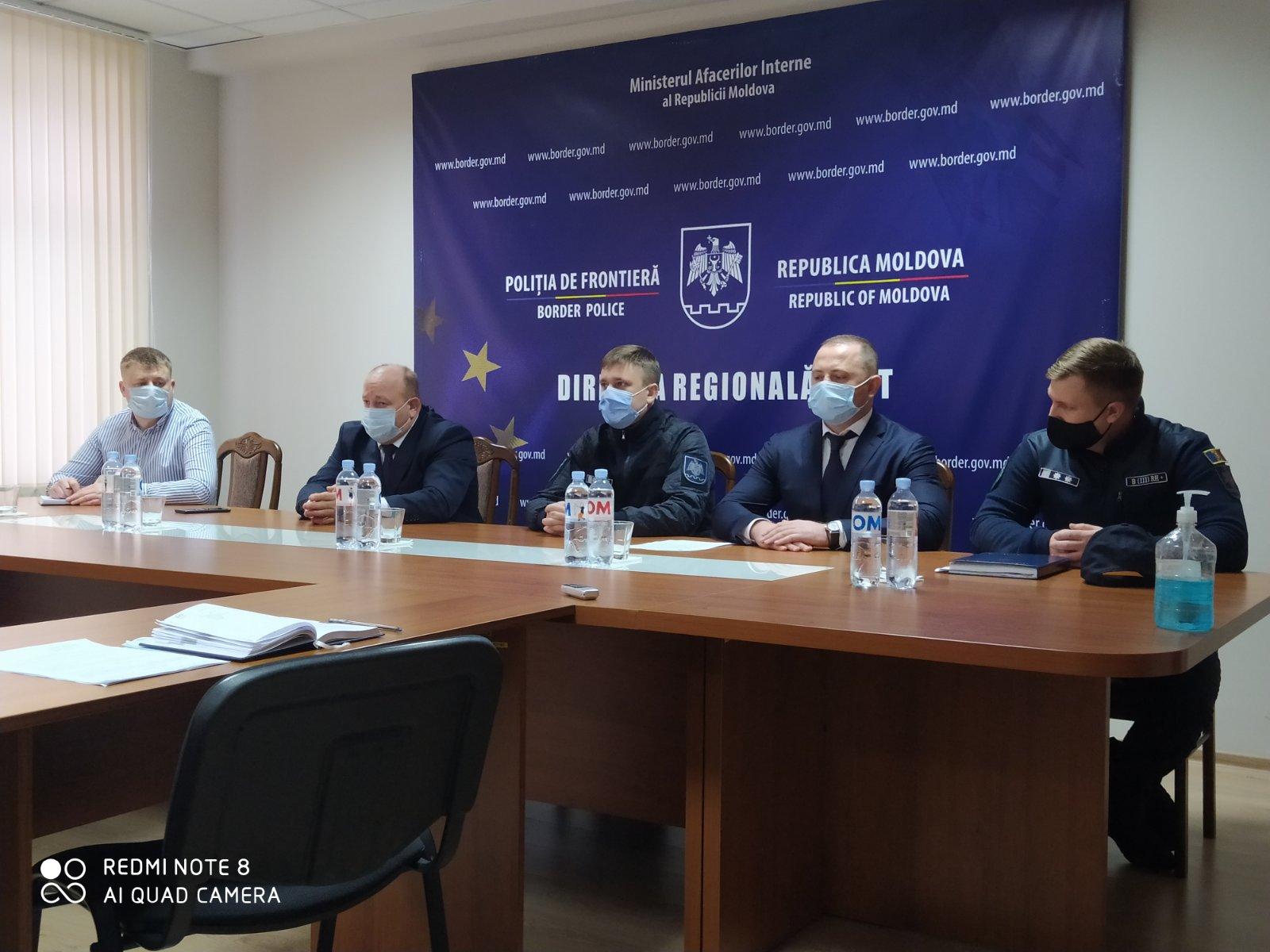 Petru Corduneanu a efectuat prima vizită de lucru la Direcția regională Vest a Poliției de Frontieră