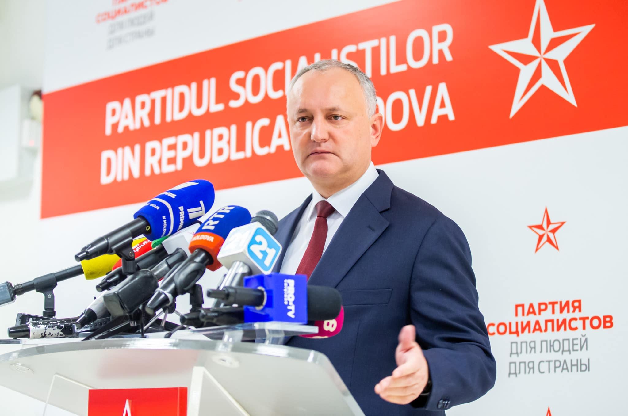 Dodon: În următoarele zile vom înainta candidatura din nou la funcția de prim-ministru din partea majorității parlamentare