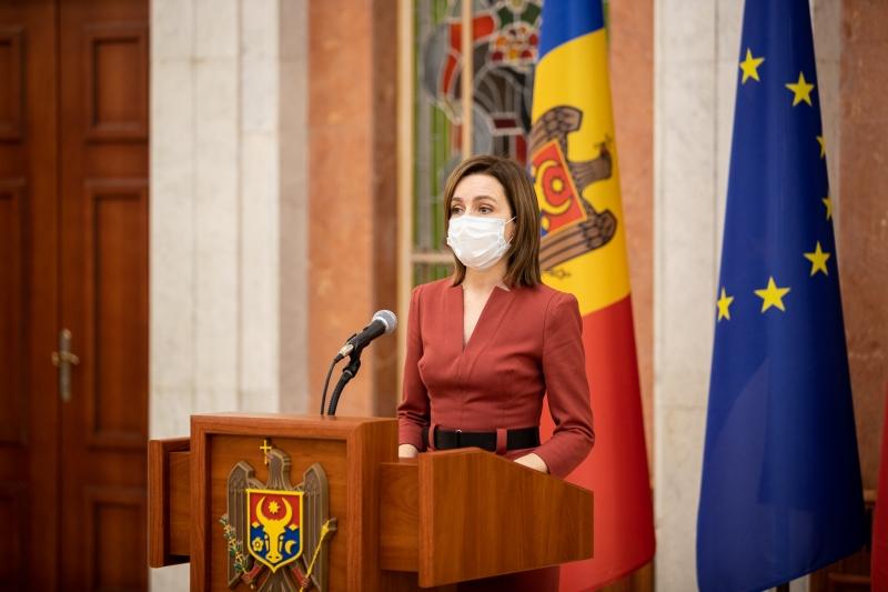 Maia Sandu: Vă mulțumesc că purtați mască și vă rog să o faceți în continuare până învingem, împreună, pandemia