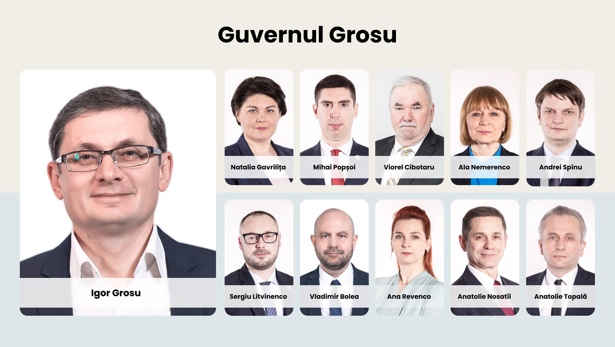 Oficial! Igor Grosu a prezentat public numele miniștrilor