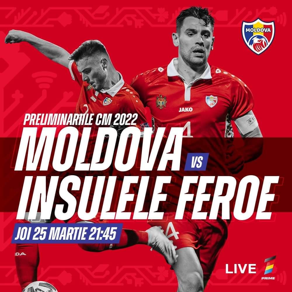 Mâine, Naționala Moldovei debutează în preliminariile CM 2022