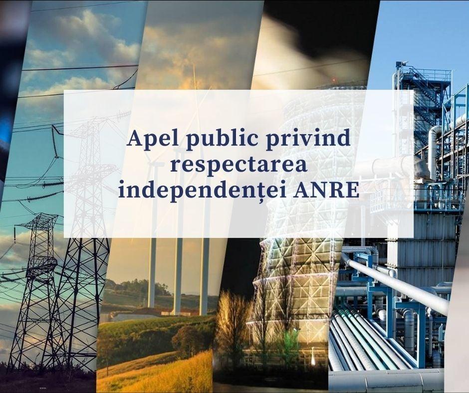 ANRE: Îndemnăm toate forțele politice și formatorii de opinie să se abțină de la acțiuni sau declarații manipulatorii nefondate