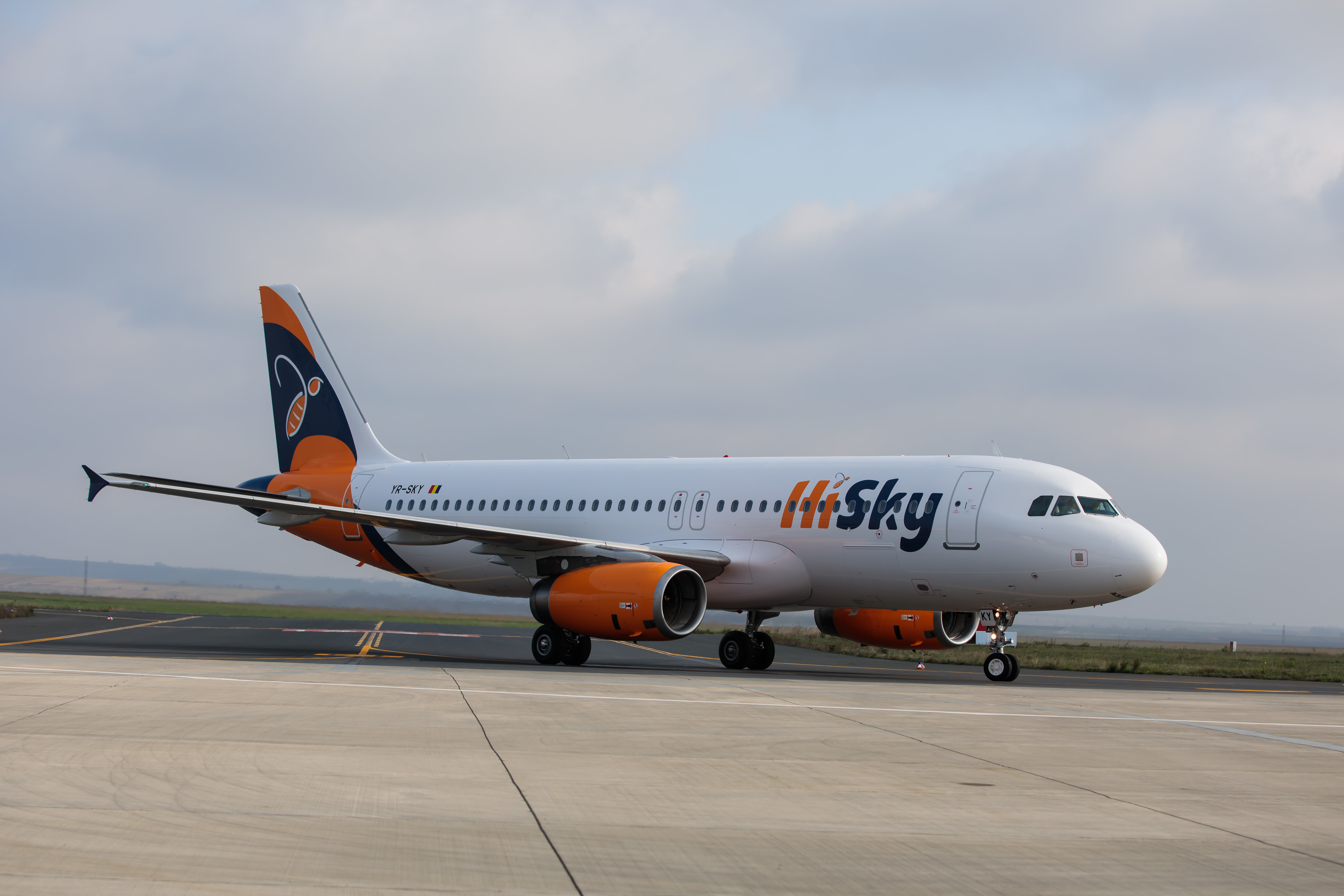 HiSky își mărește flota cu încă un Airbus. Noul avion a fost asamblat în 2014
