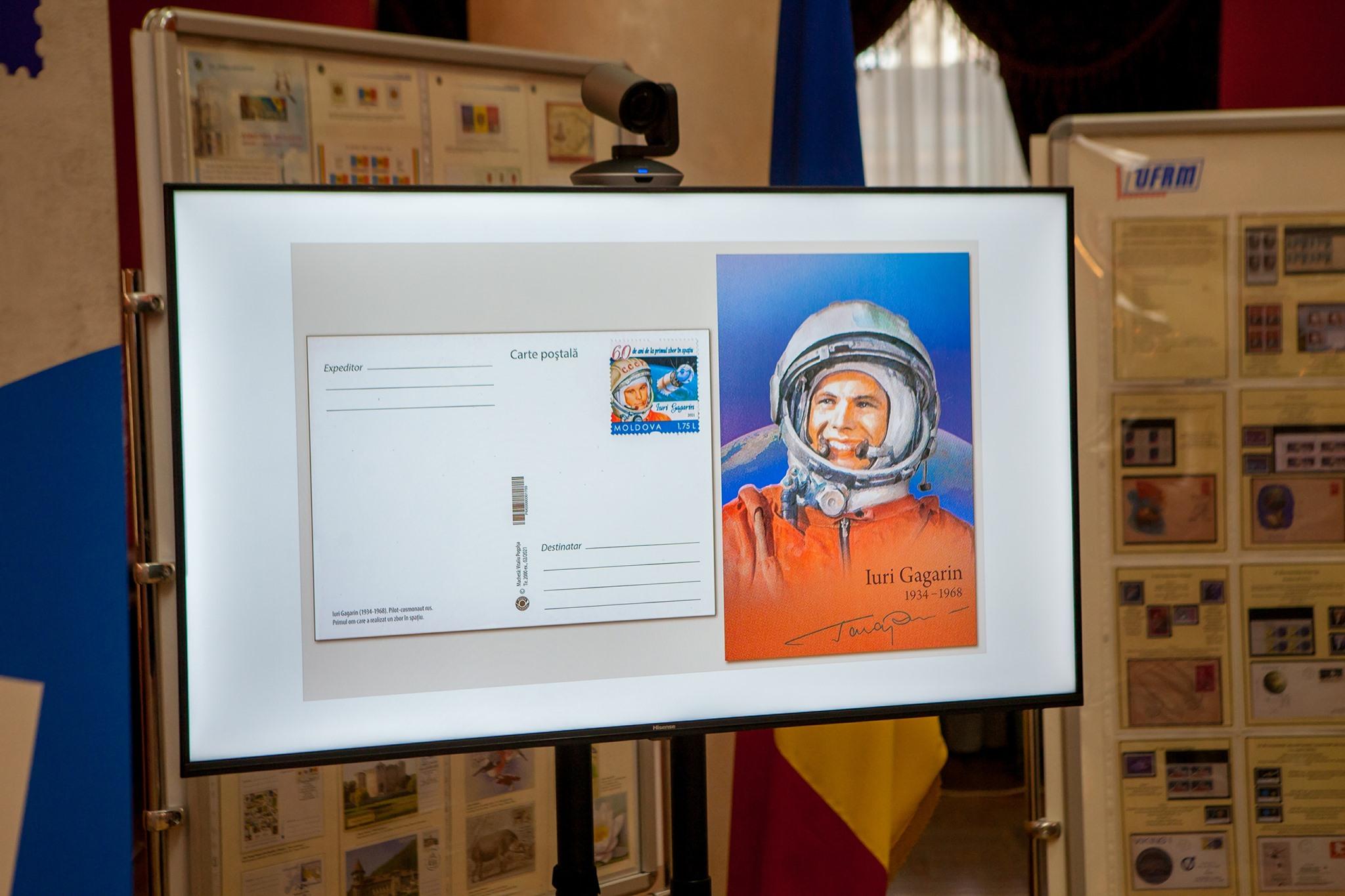 """Ștampila poștală specială """"Iuri Gagarin – 60 de ani de la primul zbor în spațiu"""", pusă în circulație astăzi!"""