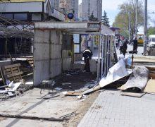 """(FOTO) Ceban: """"Astăzi a început demolarea pavilioanelor de lângă fostul Cinematograf """"Flacăra"""""""""""
