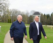 Dodon, timp de două zile, în Belarus