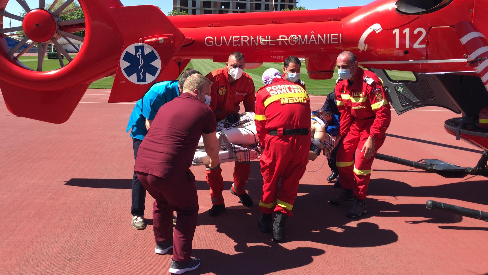 O nouă operațiune aero-medicală a echipajelor SMURD România, realizată pe teritoriul Republicii Moldova