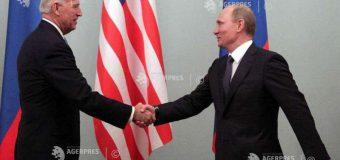 SUA: Preşedintele Joe Biden speră să se poată întâlni cu omologul rus Vladimir Putin în luna iunie