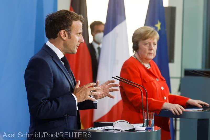 Merkel şi Macron îndeamnă la o coordonare în cadrul UE cu privire la redeschiderea frontierelor