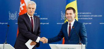 Ministrul de Externe al Slovaciei: Am venit să exprimăm cointeresarea pentru o Republica Moldova prosperă