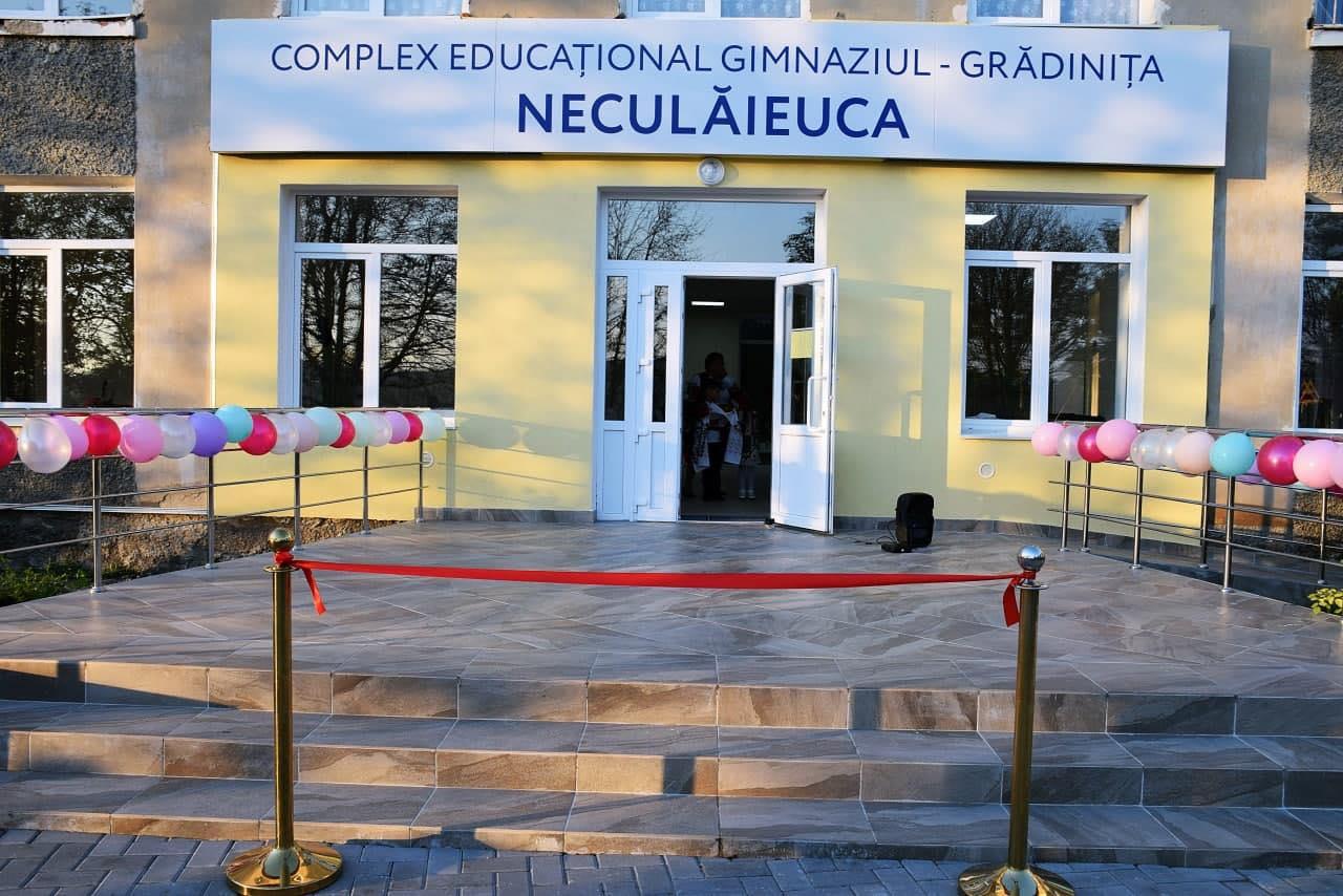 Un nou proiect, implementat de echipa lui Ilan Șor: La Neculăieuca, a fost creat Complexul educațional gimnaziul-grădinița